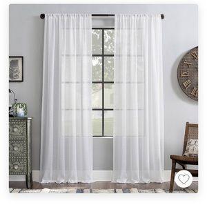 Light filtering curtains 84 (white)